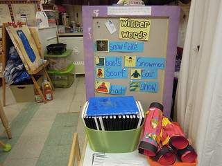 bulletin board for winter at PS 261, pre-k class
