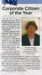 Gizelle Forgie Corporate Citizen of the Year Australia Day 2014