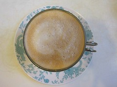 A frothy latte