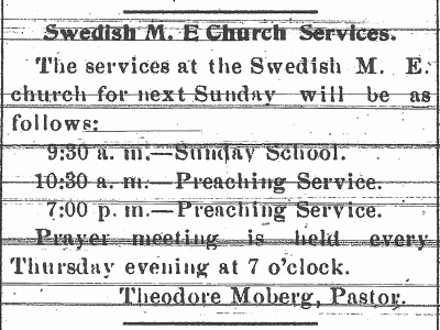Pastor Theodore Moberg