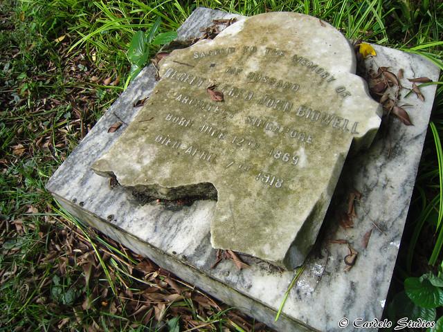 Bidadari Memorial Garden - Christian Section - Headstone of Regent Alfred John Bidwell 01