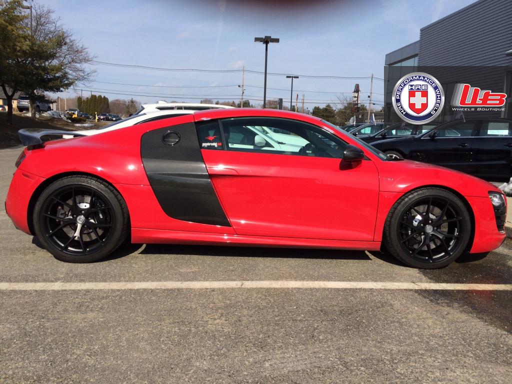 Stunning Red Audi R8 V10 on HRE P101s