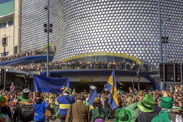 St Patricks day parade Birmingham UK 2014