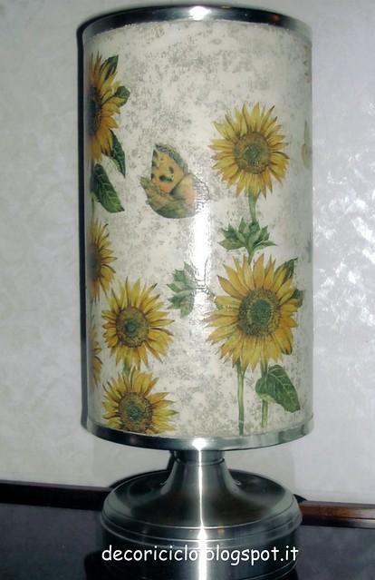 lampada girasoli spenta