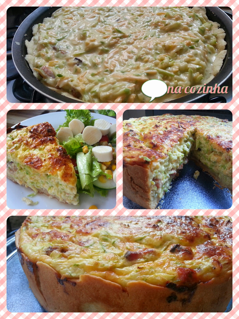 Quiche de Abobrinha e Bacon