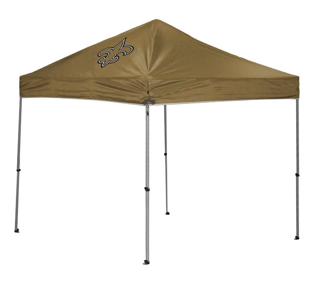 New Orleans Saints Tailgate Straight Leg Canopy 9 x 9 Easy Up Shelter Design for Tailgating