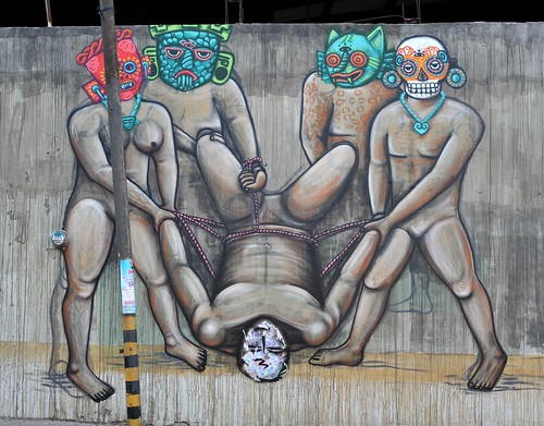 Pin aztec warrior mural minneapolis taylor lindgren tags for Aztec mural tattoos