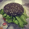 Fast food can be healthy too. There's lot of lettuces in my charcoal burger.