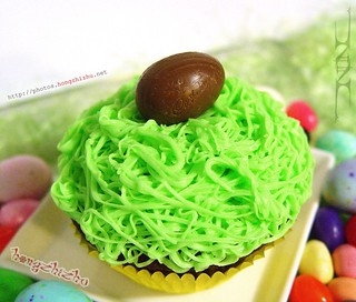 Chocolate Cadbury Creme Egg Cupcake