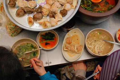 dumpling soup overhead