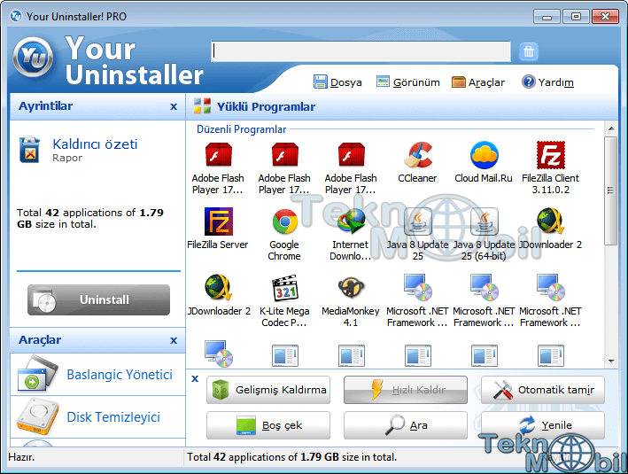 Your Uninstaller Pro v7.5.2014.03 Türkçe Full İndir