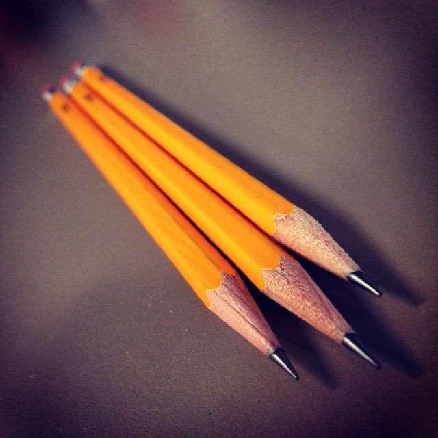 Stick them with the pointy end. #2 #pencil #weapon #writing #pointyend