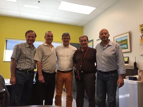 Una delegación italiana viajó hacia Canadá
