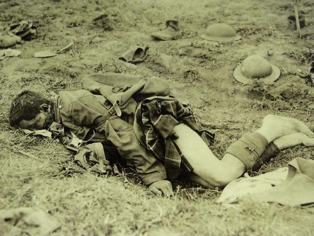 Soldado británico muerto en la I Guerra Mundial en el norte de Francia