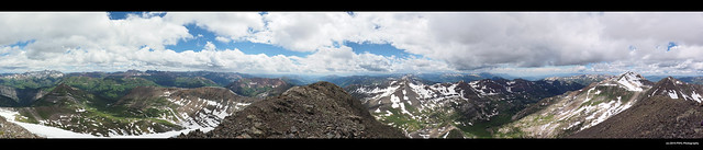 Panoramic view from the top of Treasure Mountain