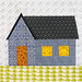 Gabled house block for #QuiltsforQC by Huntspatch Quilts