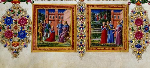 008-Bibbia di Borso d'Este-Vol 1- Hoja 20 detalle- Biblioteca Estense de Módena