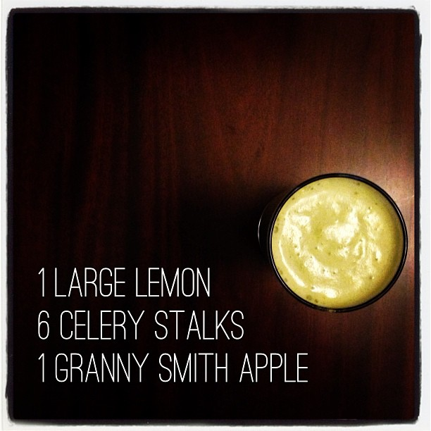 Juice of the day! #apple #lemon #celery #grannysmith #juice #juicing #greenjuice