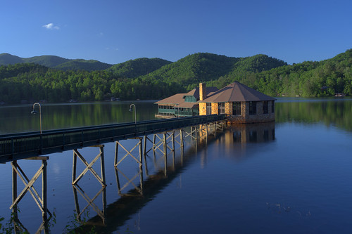 mountains building landscape scenic northcarolina reservoir