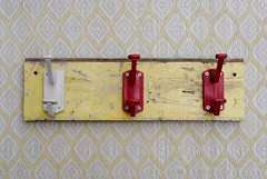 wood & wall peg yellow