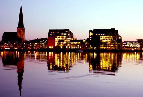 Sonnenuntergang in Rostock 04