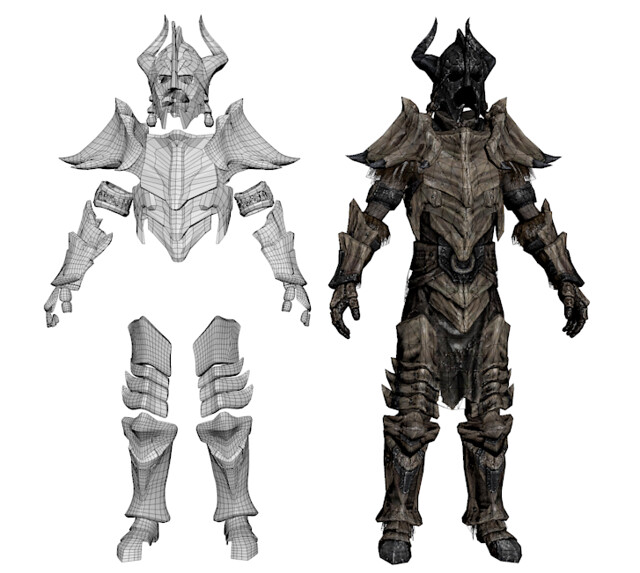 Props By Vrogy Skyrim Dragonbone Armor 3d Models One for each weapon type and one for each armor piece. props by vrogy