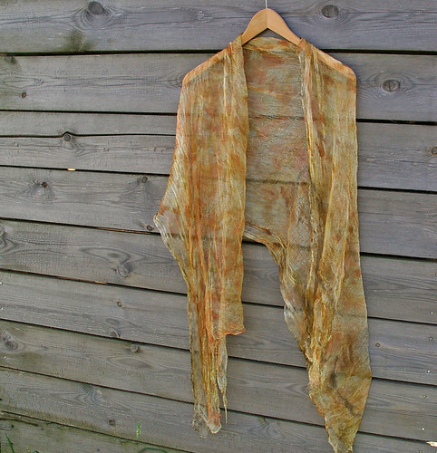 Silk gauze naturally dyed scarf