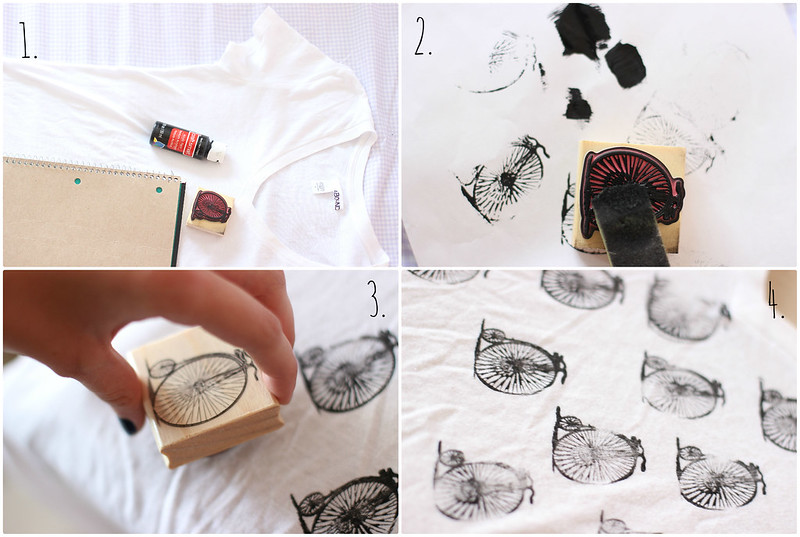 Diy rubber stamp print t shirt into the woods for How to make t shirt printing
