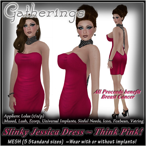 Mesh Slinky Jessica Dress Think Pink by Stacia Zabaleta