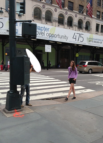 Filming a commercial, 5th Ave.