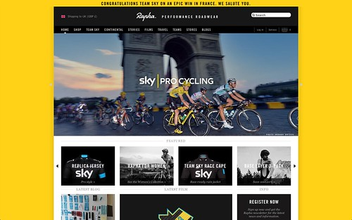 Nice Froome tribute on Rapha homepage