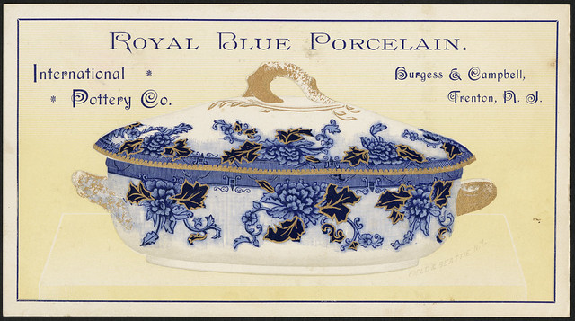 Royal blue porcelain. International Pottery Co. Burgess & Campbell, Trenton, N. J. (front)