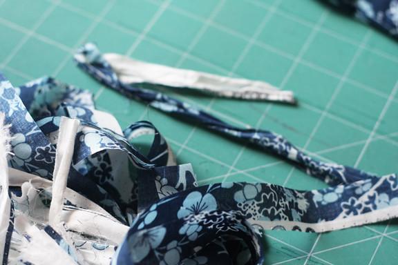 Shabby voile fabric flower tutorial