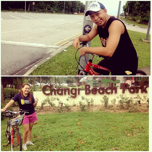 East coast park to changi beach park in 1hr45mins.