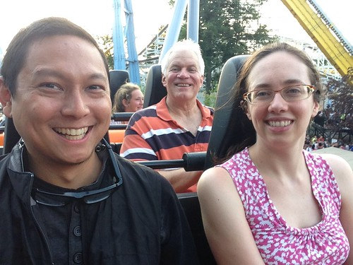 Me, Amy, and her Dad on SooperdDooperLooper