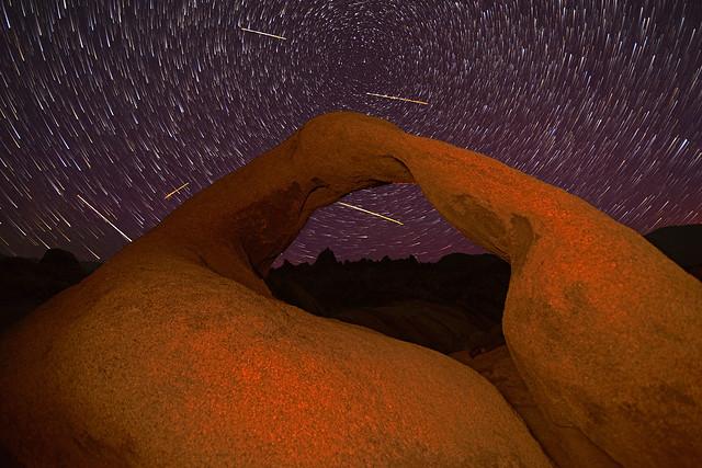 Mobius Arch - Perseid Meteor Shower