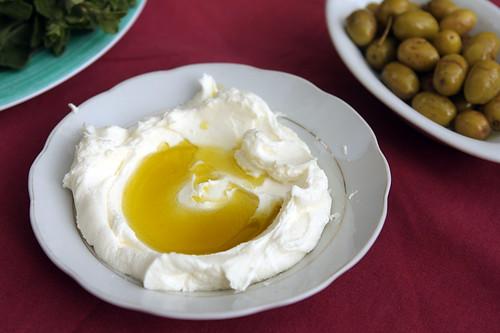 labneh + olive oil