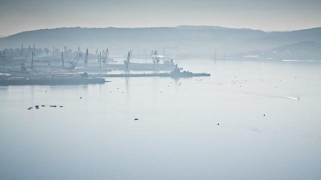 Ría de Ferrol, base militar y astilleros de Navantia