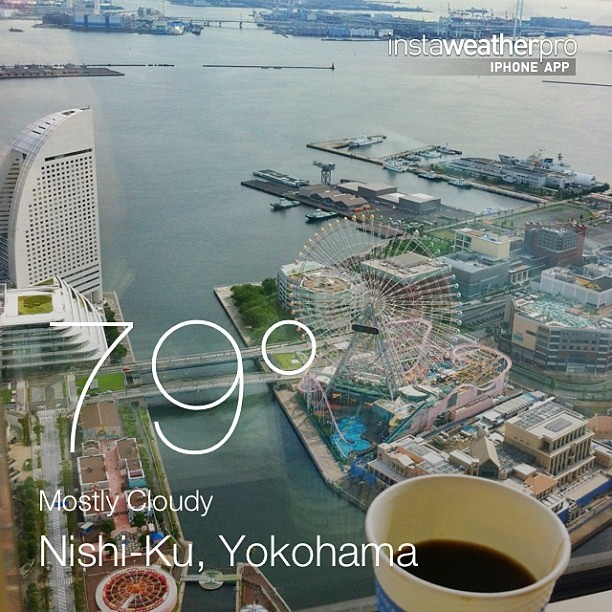 Yokohama! I am here again.  Very pretty view from up here.  #weather #instaweather #yokohama #japan #day #summer #morning #jp