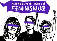 Nein, nein, das ist nicht der Feminismus!