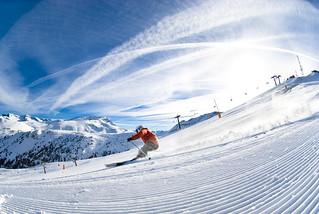 Esquiando en Cerler.