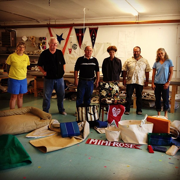 Here are my classmates and all the great stuff we made! #diy #boat #canvaswork #woodenboat