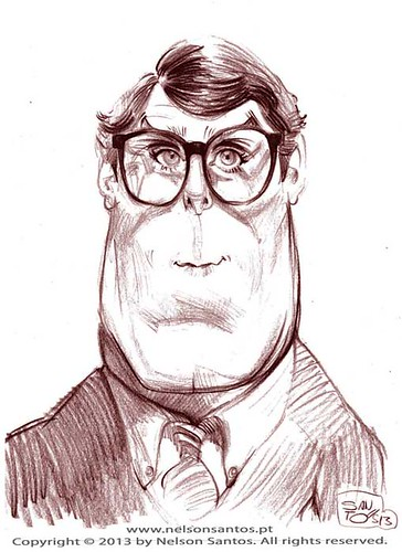 Christopher_Reeve_Clark_Kent by caricaturas