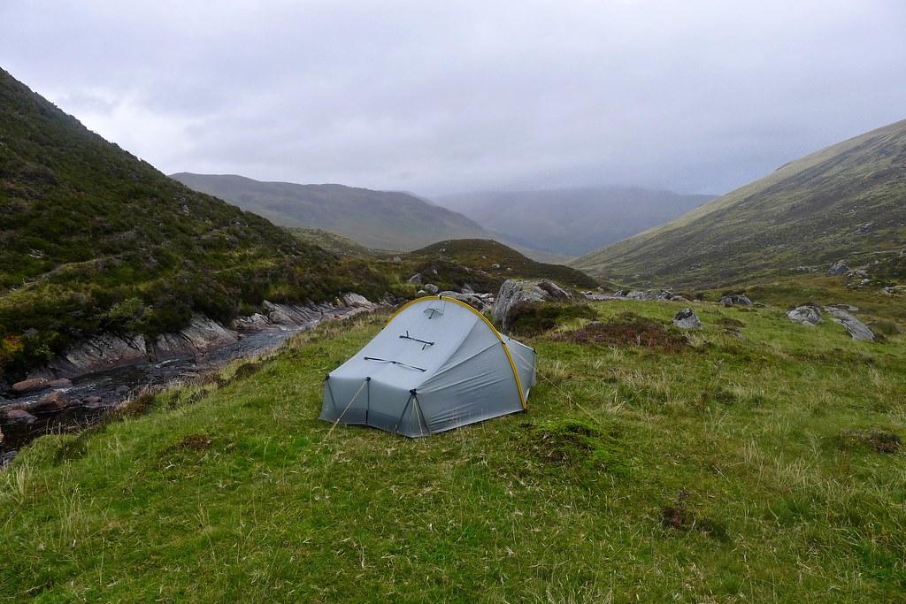 Camp in Gleann Dà-Eig