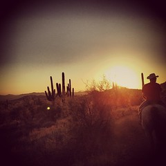 Took a ride at sunset tonight.  It was such a fun ride!! #instagramaz #arizona