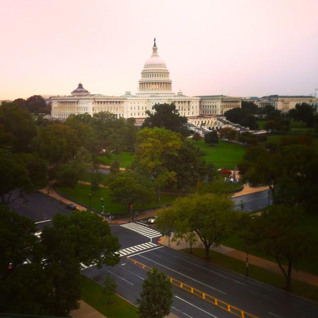 Capitol on a Rainy Eve