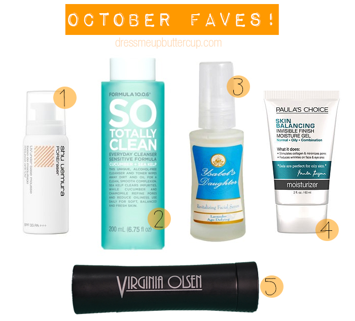 5 October Monthly Beauty Favorites
