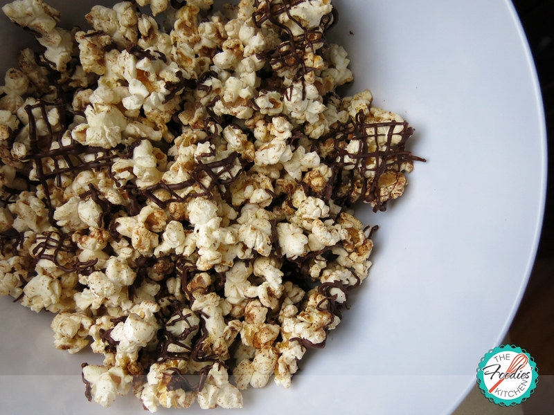 Chocolate Pumpkin Spice Popcorn