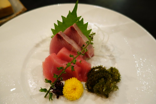 Sashimi from IKYU's Gourmet Traveller Menu 2013