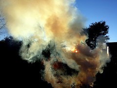 smoke, fire, sky, explosion,